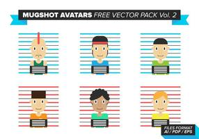 Mugshot Avatare Free Vector Pack Vol. 2