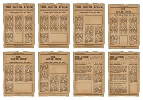 Conjunto de vetores de Old Newspaper Template