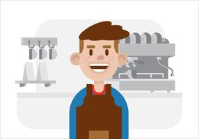 Vecteur barista