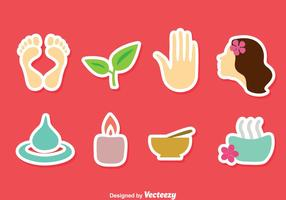 Spa Flat Iconen Vector