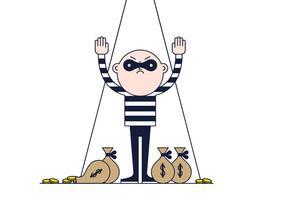 Vetor grátis do ladrão