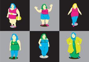 Vector de las señoras gordas
