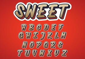 Sweet Alphabet Vector