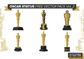 Oscar statue free vector pack vol. 2