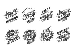 Logotipo libre del vintage del biplano