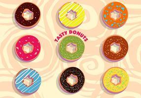 Vector donuts sabrosos