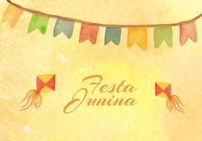 Free Vector Junina Watercolor Background