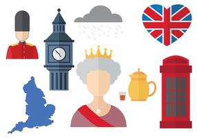 Libre Queen Elizabeth Icons Vector