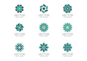 Libre Geometrical Arabesque Ornamental Logo Plantillas
