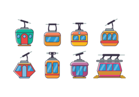 Cable Car Flat Icon
