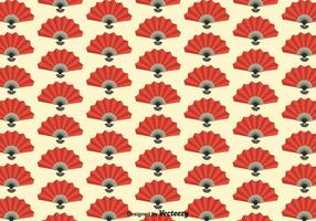 Gratis Spansk Fan Seamless Pattern Vector