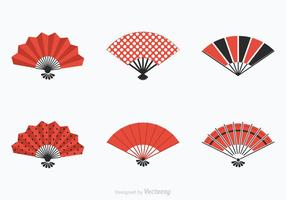 Gratis Spansk Fan Vector Set