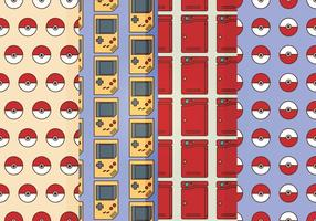 Vector Pokemon Badges Patterns