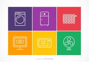 Kostenlose Vector Appliances Stroke Icons