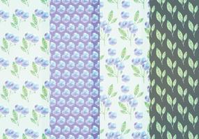 Vector Blauwe Bloemenpatronen
