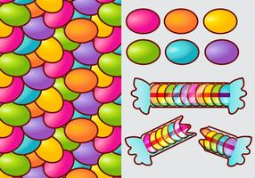 Smarties candy gradient vecteur éléments