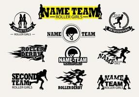 Vector Label Roller Derby