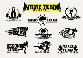 Vector de etiqueta Roller Derby