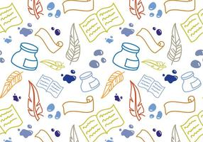 Free Writing Pattern Vectors