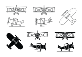 Doppeldecker Icon Set
