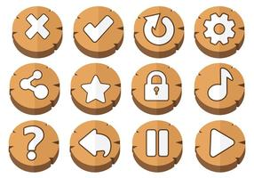 Arcade Button Icons Vector