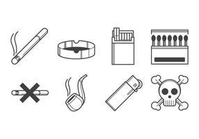 Vetor de ícones para fumar livre