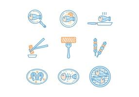 Gratis Fish Meals Vector
