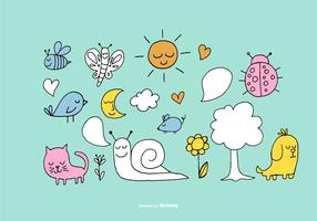 Cute-forest-element-vectors