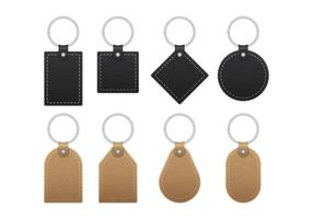 Leather Key Chains vector