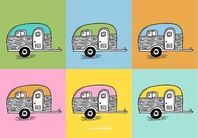 Vetores camper trailer