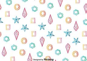 Colorful Gems Pattern Background vector