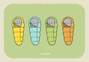 Vectores de la bolsa de dormir
