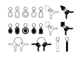 Key Chains Icons vector