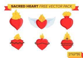 Sacred Heart Pack Vector Libre