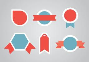 Etiquetas Red and Blue Vectors
