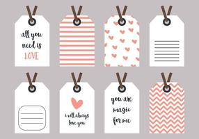 Vecteurs d'étiquettes d'amour et de coeur