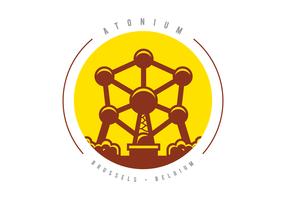 Atomium Monument Illustration