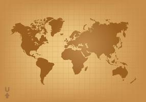 Vintage mapa del mundo vector