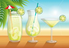 Caipirinha Beach Theme Vector
