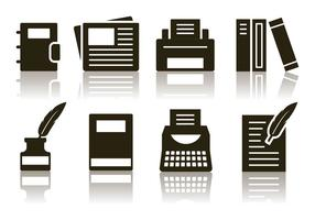 Gratis Minimalistisk Writer Icon Set