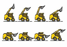 Minimalistische Skid Steer Icon Set