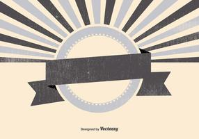 Blank Retro Sunburst Backgrund vector