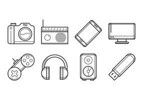 Dispositivos Electrónicos Gratis Icono Vector