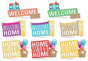 Welcome Home Titles vector