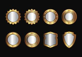 Gratis Gold Realistic Seal and Badges Vector