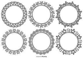 Cuadros de Doodle dibujados a mano