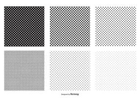 Seamless Polka Dot Vector Patterns