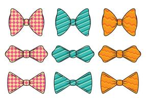Set Van Cravat Vector
