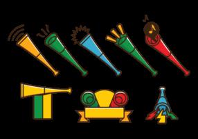 Vuvuzela Trumpet Vector