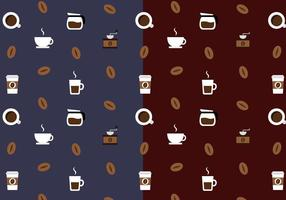 Coffee Pattern Vector gratuito